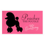 311 Peaches the Poodle Pet Grooming Double-Sided Standard Business Cards (Pack Of 100)