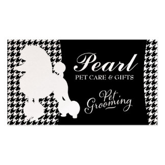 311 Pearl the Poodle Pet Grooming Business Card Templates