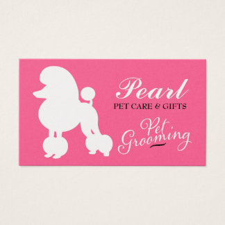 311 Pearl the Poodle Pet Grooming Business Card