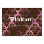 "311-Pink Blackberry ""Pure"" Chocolate Damask Large Business Cards (Pack Of 100)"