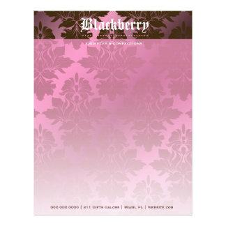 "311-Pink Blackberry ""Pure""  Chocolate Damask Letterhead"