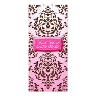 311 Pink Blast Chocolate Brown Damask Rack Card