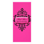 311 Pink Blast Hot Pink Damask Rack Card