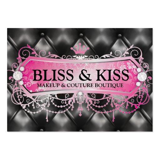 311 Pink Bliss Black Tuft Metallic Business Card Template