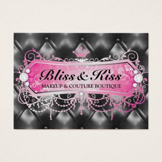 311 Pink Bliss Black Tuft Metallic Business Card