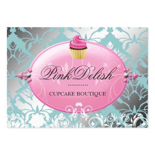 311 Pink Delish Cupcake Teal Business Cards