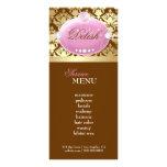 311 Pink Delish Damask Shimmer Milk Chocolate Rack Cards