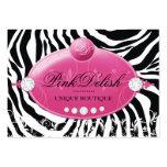 311 Pink Delish Deep Pink Zebra 3.5 x 2.5 Large Business Card