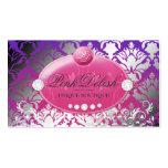 311-Pink Delish Monogram | Purple Radiance Business Card Templates