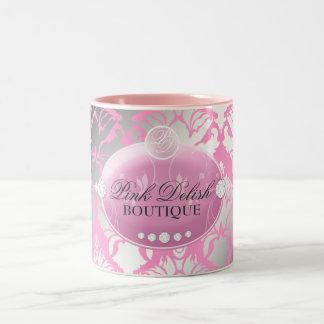 311-Pink Delish Pink Two-Tone Coffee Mug