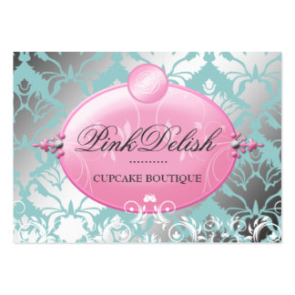 311 Pink Delish Version 2 Teal 3 5 x 2 5 Business Cards