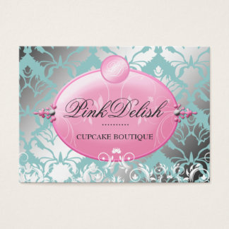 311 Pink Delish Version 2 Teal 3.5 x 2.5 Business Card