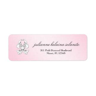 311-Pink Diamond De Luxe Etiqueta De Remitente