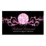 311 Pink Diamond Radiance Black Business Card