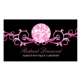 311 Pink Diamond Radiance Black Double-Sided Standard Business Cards (Pack Of 100)