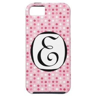 311 Pink Dots Monogram iPhone SE/5/5s Case