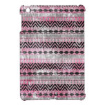311 Pink Gray Aztec Texture iPad Mini Cases