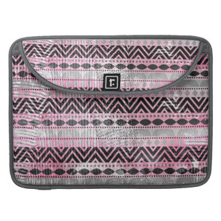311 Pink Gray Aztec Texture Sleeve For MacBooks