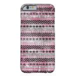 311 Pink Gray Black Aztec Texture iPhone 6 Case