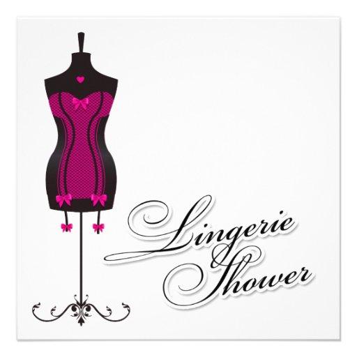 311-Pink Lingerie Mannequin Invitation