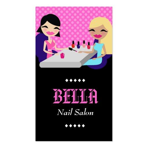 311-PINK NAIL SALON BUSINESS CARD TEMPLATE