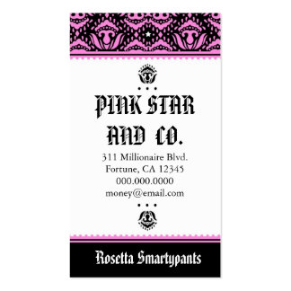 311 Pink Star Double-Sided Standard Business Cards (Pack Of 100)