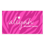 311 Pink Star Zebra Stripes Appointment Card Business Card