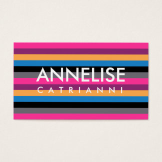 311 Pink Stripe Business Card