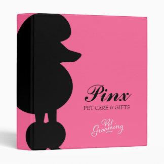 311 Pinx the Poodle Pet 3 Ring Binder