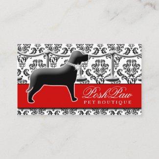 311 Posh Pet Red Carpet Business Card