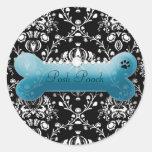 311 Posh Pooch Teal Pitch Bark Classic Round Sticker