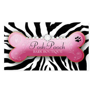 311 Posh Pooch Zebra Double-Sided Standard Business Cards (Pack Of 100)