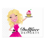 311 postres Blondie 3,5 x 2 de Dollface Tarjetas Personales