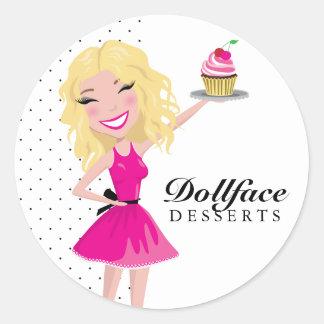 311 postres Blondie de Dollface Pegatinas Redondas