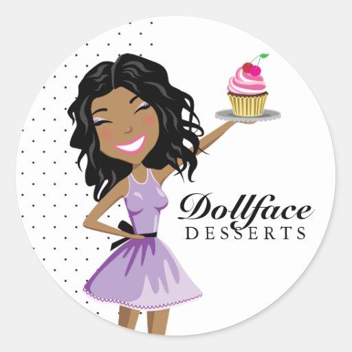 311 postres Ebonie de Dollface Pegatina Redonda