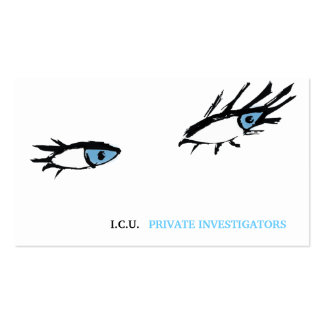 311 Private Investigator Eyes Business Cards