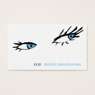 311 Private Investigator Eyes Business Card