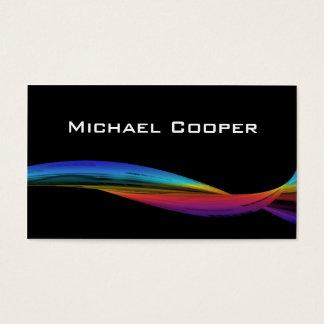 311 Professional Rainbow Wave Business Card Black