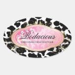 311 puntos Bodacious del leopardo del boutique Calcomanía Ovaladas Personalizadas