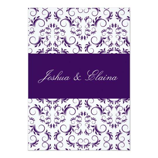 311 Purple White Divine Bridal Bingo Card