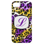 311 Purple Yellow Leopard Initial iPhone Cover iPhone 5 Case
