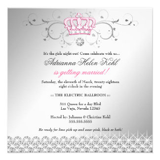 311-Queen for a Day Faux Silver Custom Invites