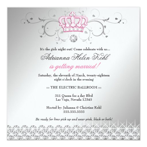 311-Queen for a Day | Faux Silver Invitation