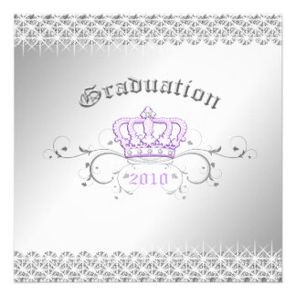 311-Queen for a Day Graduation Party Lilac Custom Announcement