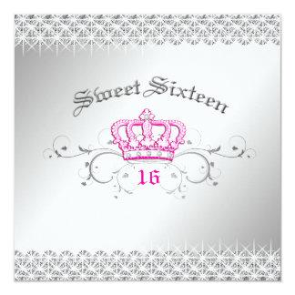 311-Queen for a Day | Sweet Sixteen Hott Pink Card