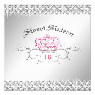 311-Queen for a Day Sweet Sixteen Personalized Invitation