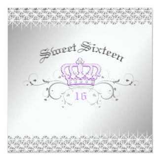 311-Queen for a Day | Sweet Sixteen Lilac Card
