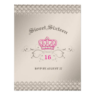311-Queen for a Day Sweet Sixteen RSVP Invitations