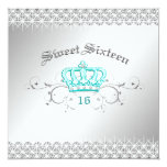 311-Queen for a Day | Sweet Sixteen Turquoise Card