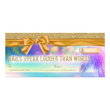 Beach Themed 311 Radiant Palm Nails Speak Gift Certificate